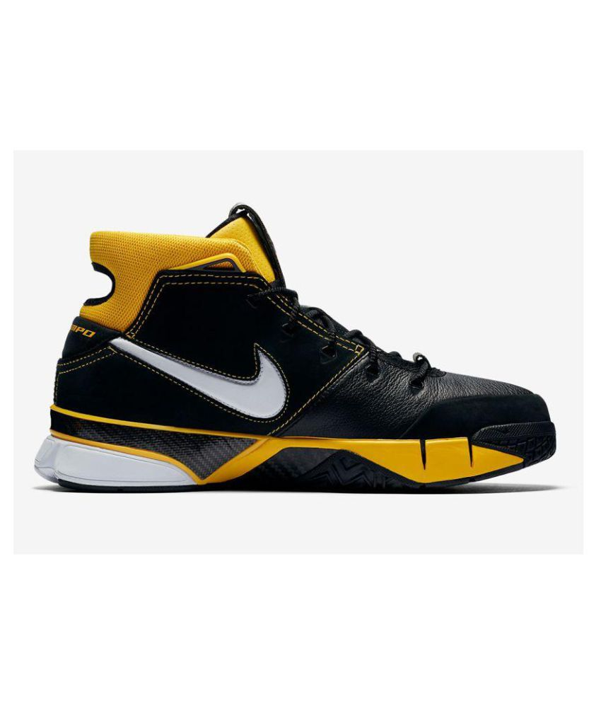 check out 78ba7 59f2a Nike Air Uptempo Kobe Black Yellow Midankle Male Black: Buy ...