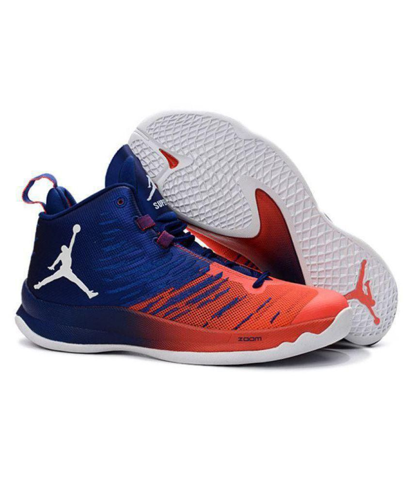 af8e8534f28 Nike Jordan Super Fly 5 Blue Orange Midankle Male Blue: Buy Online at Best  Price on Snapdeal