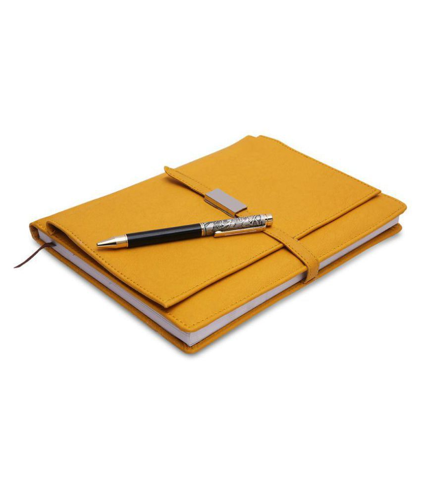 COI Yellow Executive Corporate Undated Business Diary/Notebook for Women Professional to Do List Memo Organizer Planner Business Man Gifts with Pen