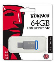 SOMOTO Kingston DataTraveler 64GB USB 3.1 Utility Pendrive Pack of 1