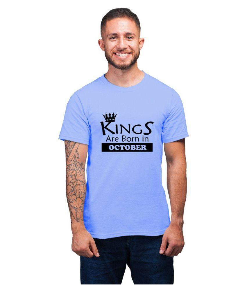 Ritzees Blue Half Sleeve T-Shirt Pack of 1