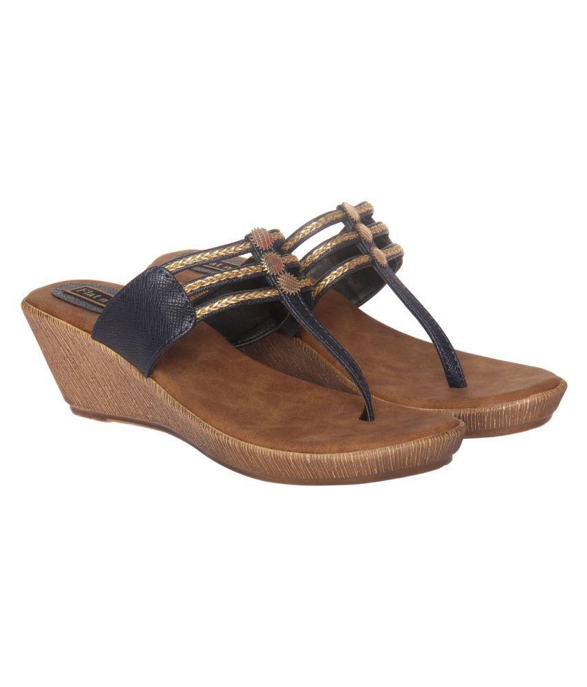 Flat N Heels Blue Wedges Heels