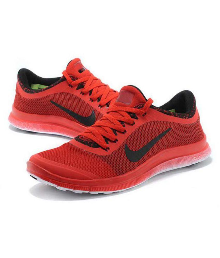 new arrival 191fc b8f31 NIKE 2018 Free 3.0 Running Shoes Red  Buy Online at Best Price on Snapdeal