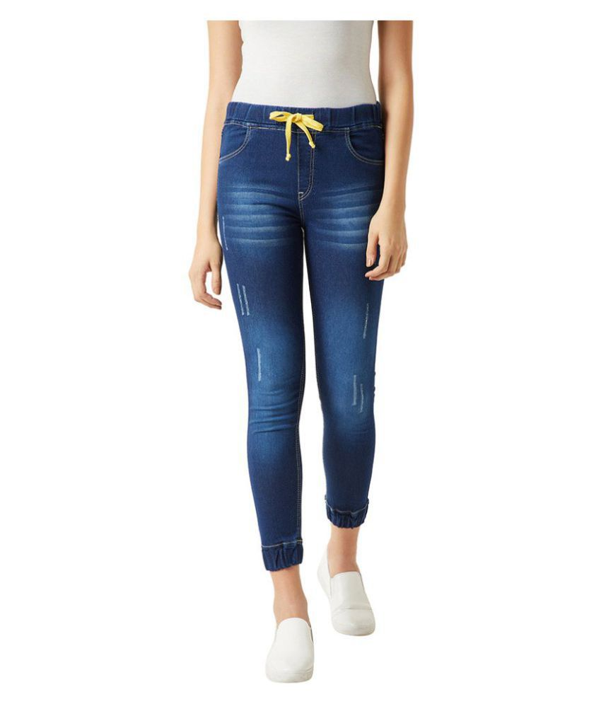 Miss Chase Denim Jeggings - Navy