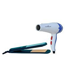 StyleManiac Combo of Hair Straightener With Hair Dryer ( Blue )