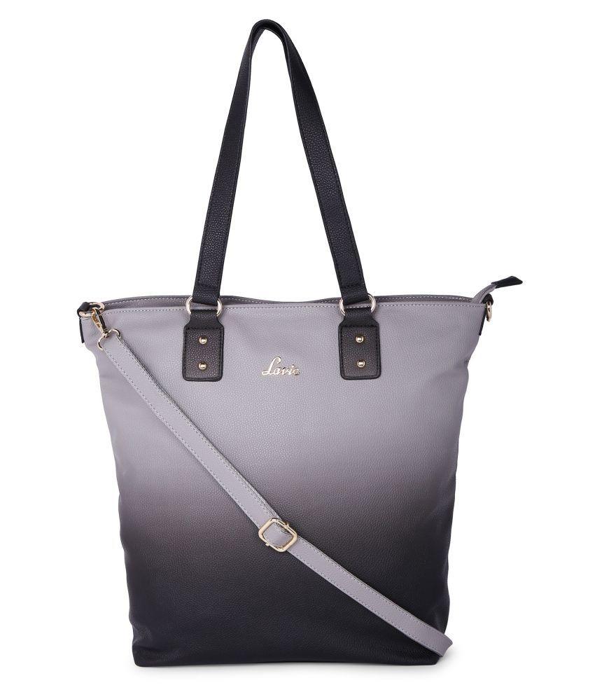 Lavie Gray P.U. Tote Bag