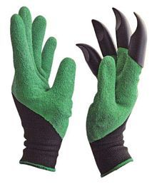 Alkarty Garden Gloves For Digging & Planting 1 Pair With Built In Claws