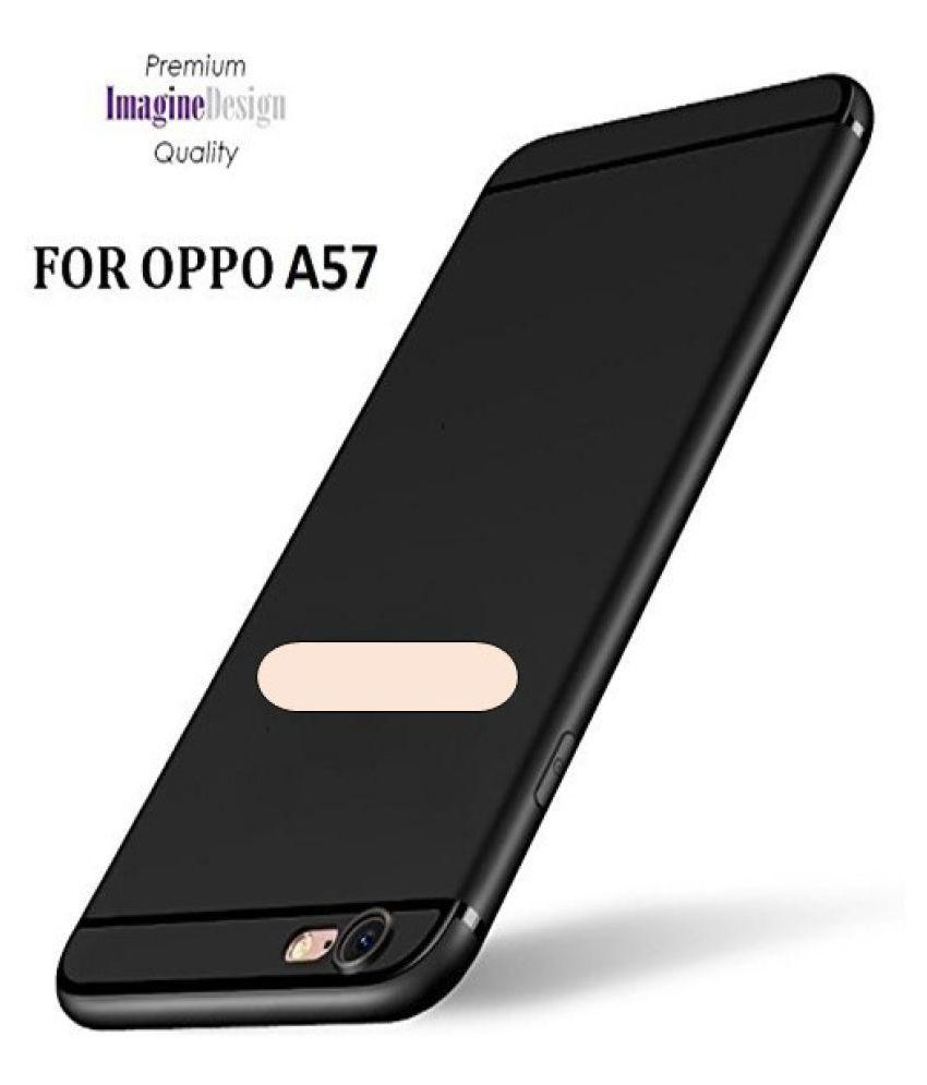 Oppo A57 Soft Silicon Cases Wow Imagine - Black