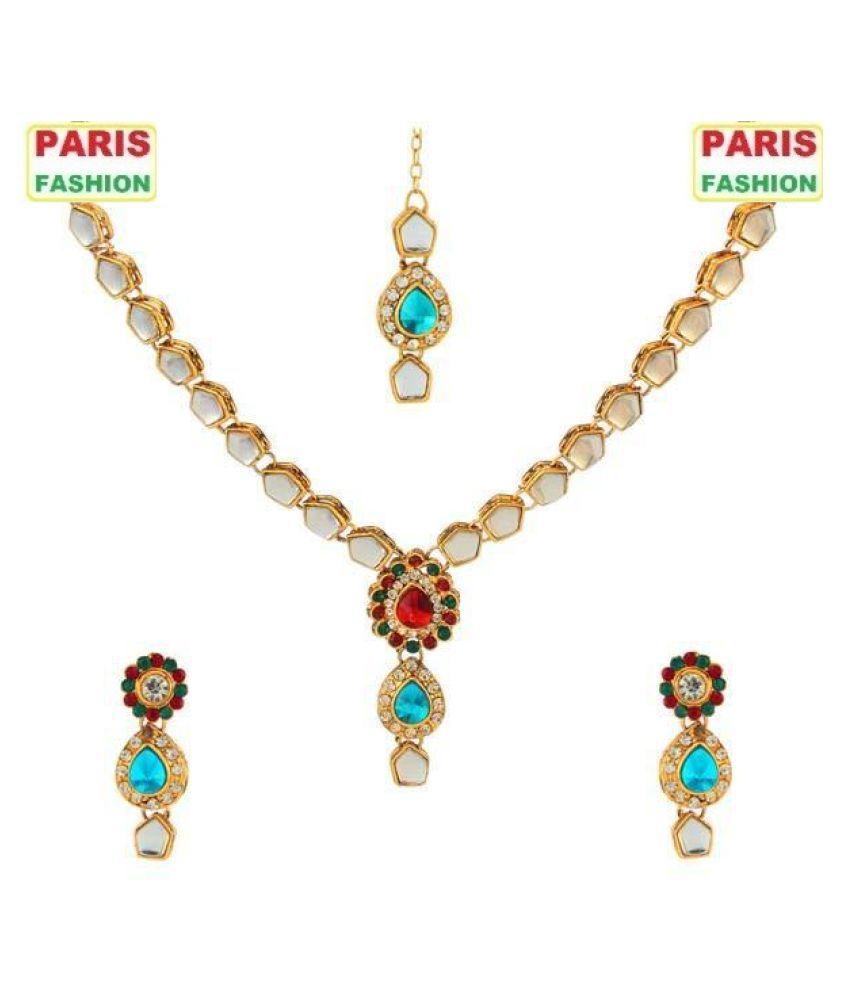 Paris Fashion Alloy Golden Opera Designer Gold Plated ...