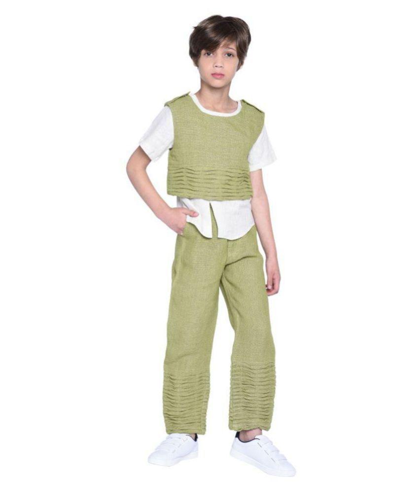 Jasper Shirt & Pant with Jacket Set for Boys
