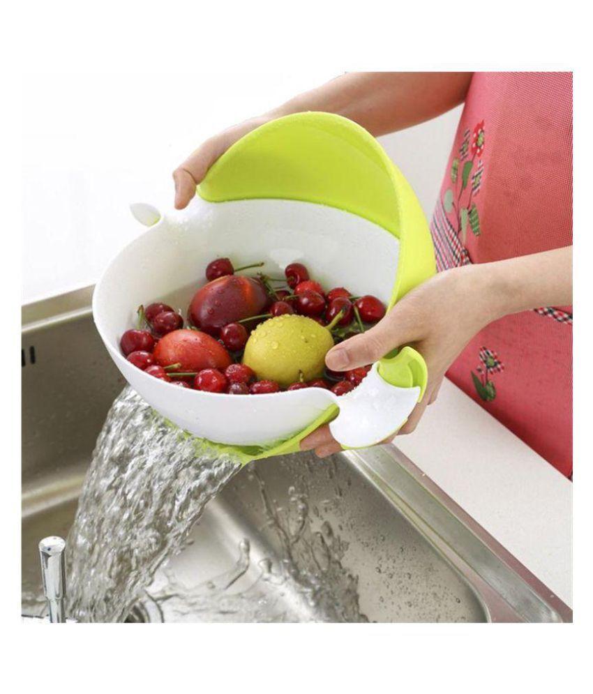 Jen 1 Pcs Plastic Fruit Bowl 2000 ml