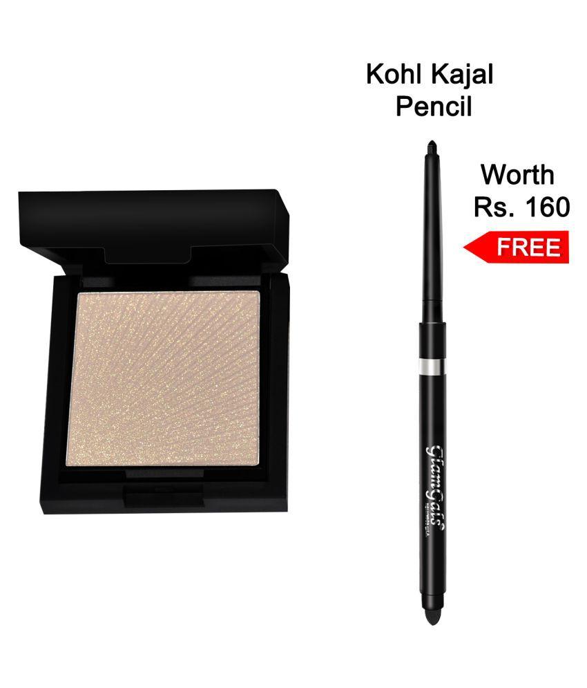 GlamGals Illuminiser with Kajal Pencil Pressed Powder Skin 7.5 gm Pack of 2