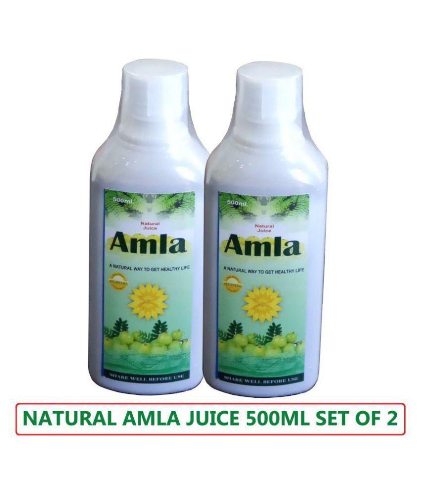 Global NATURAL AMLA JUICE Liquid 1000 ml Pack Of 2