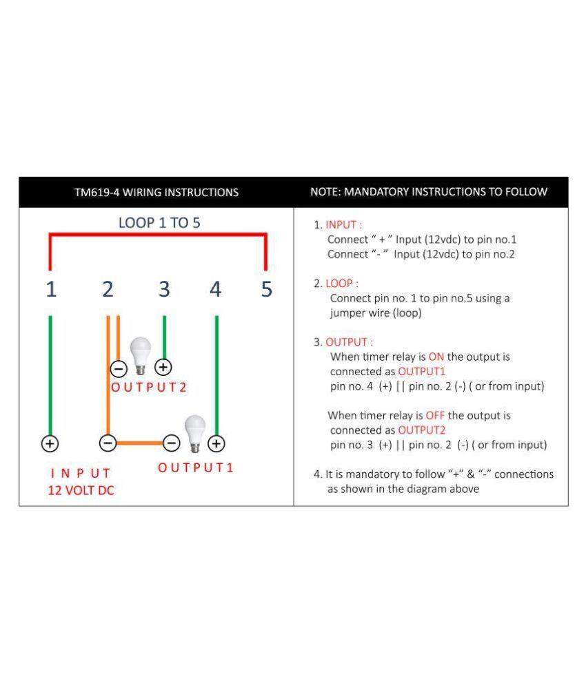Buy Euro Controls Frontier 12 Volt Dc Tm619 4 5 Pins 30