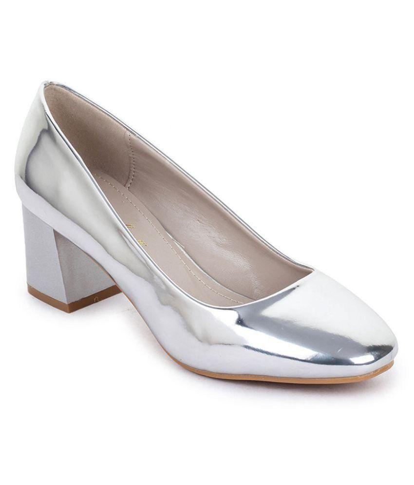 Bruno Manetti Silver Block Heels