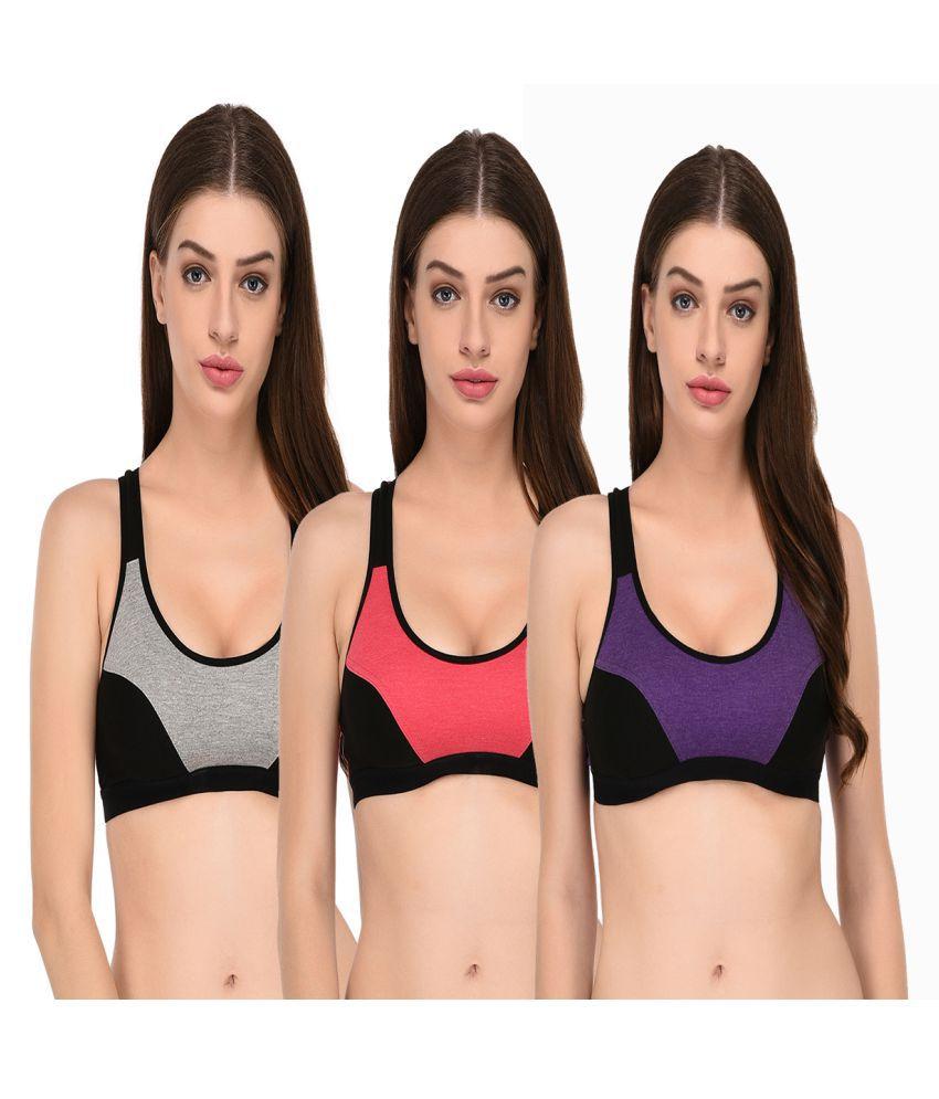Elina Cotton Sports Bra - Multi Color