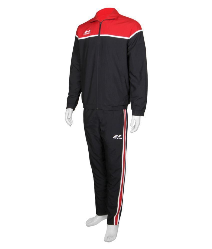 Nivia Polyster Black Track Suits-2421S2