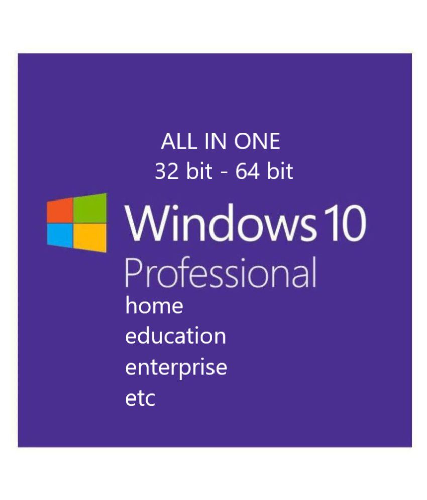 Windows 10 all in one Microsoft Windows 10 32/64 Bit ( DVD )