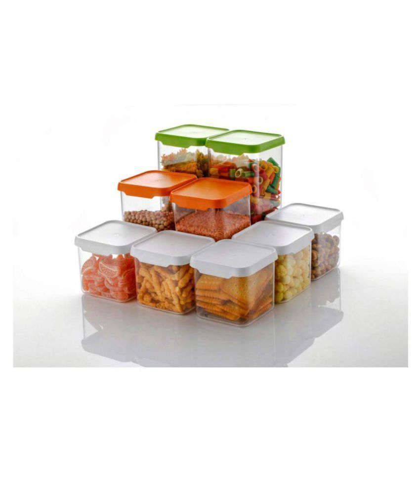 Vittamix Grocery Storage Container Combo of 9 Pcs PET Food Container Set of 9
