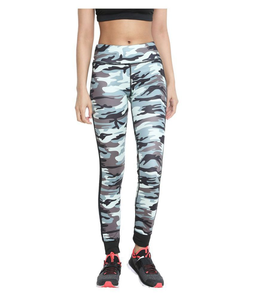 CHKOKKO Solid Casual Designer Camouflage Yoga Sports Stretchable High Waist Track Yoga Pant and Leggings for women