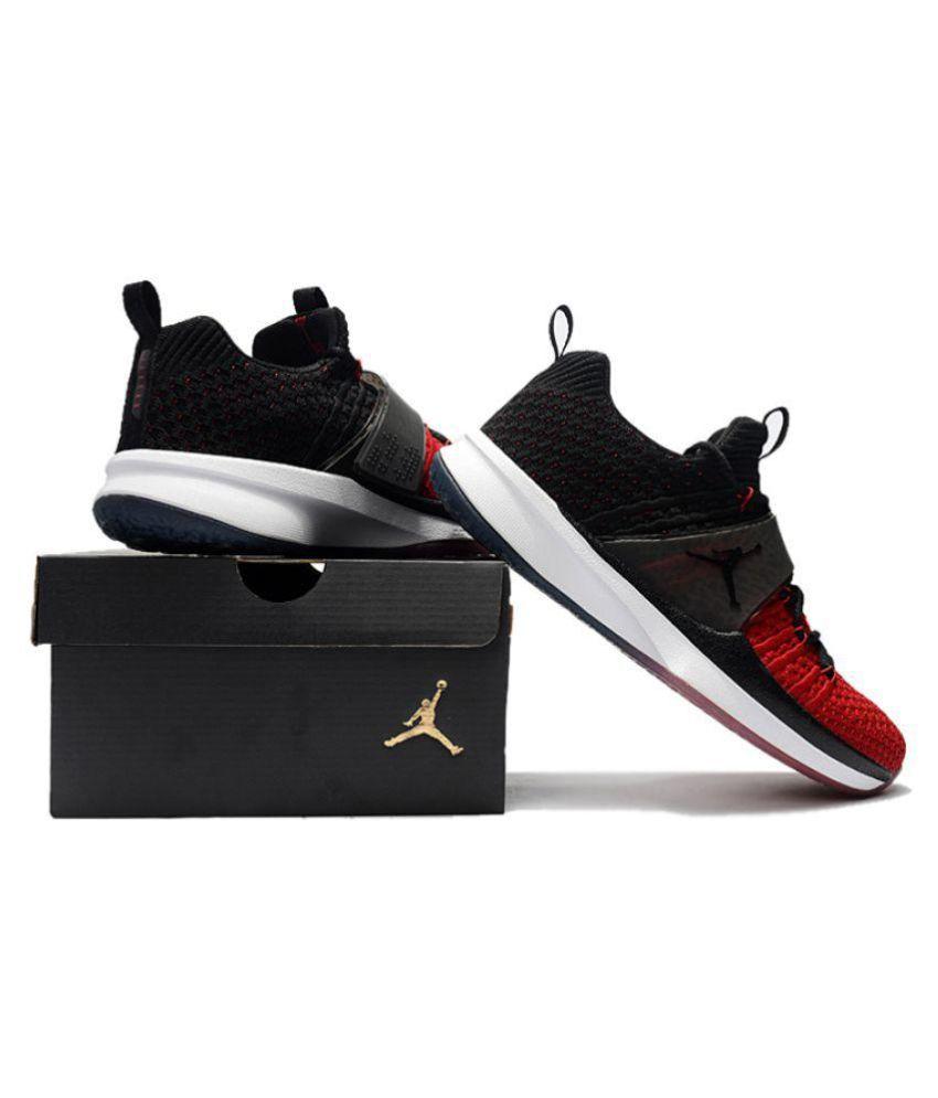 pretty nice 81124 c80aa Nike Jordan Trainer 2 Flyknit Black Basketball Shoes