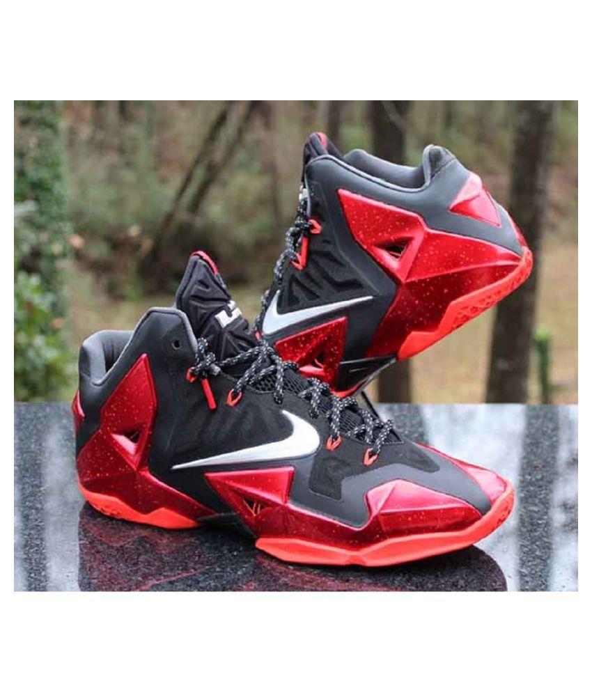 78fd7cb2358 Nike LeBron 11 Miami Heat Black Running Shoes - Buy Nike LeBron 11 ...