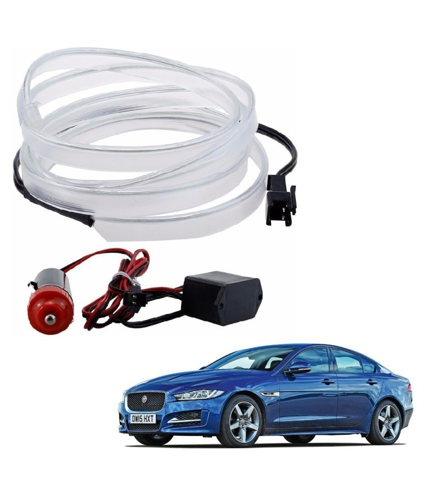 Auto Addict Ice Car Blue Color 12V 5Mtrs Roll Cold Light Car Socket Strip Neon lamp Creator Decor Interior Lighting  For Jaguar XE