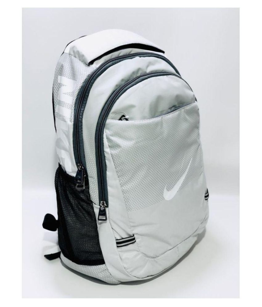 20e9446705d0bf Nike bags College Bag backpack Polyester White - Buy Nike bags College Bag  backpack Polyester White Online at Best Prices in India on Snapdeal