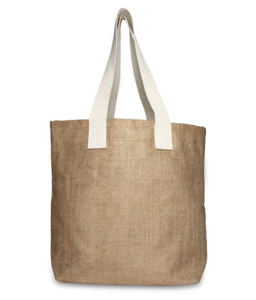 The Yoga Institute Gold Shopping Bags - 1 Pc