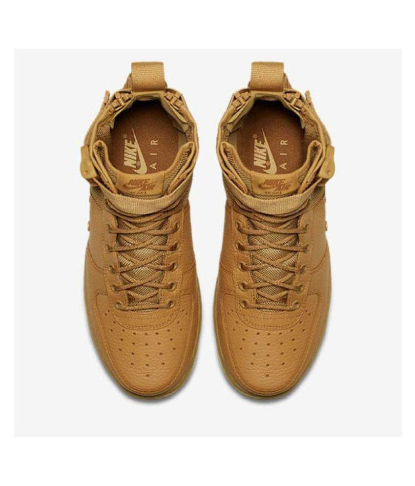 3a265bd949 Nike Nike Sf Air Force 1 Brown Low ankle Male Others: Buy Online at ...