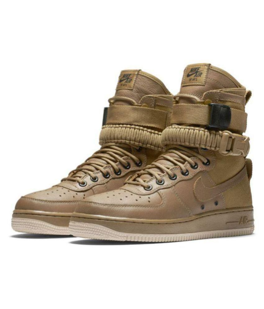 brand new d78b5 1582a Nike Nike Sf Air Force 1 Brown Low ankle Male Others  Buy Online at Best  Price on Snapdeal