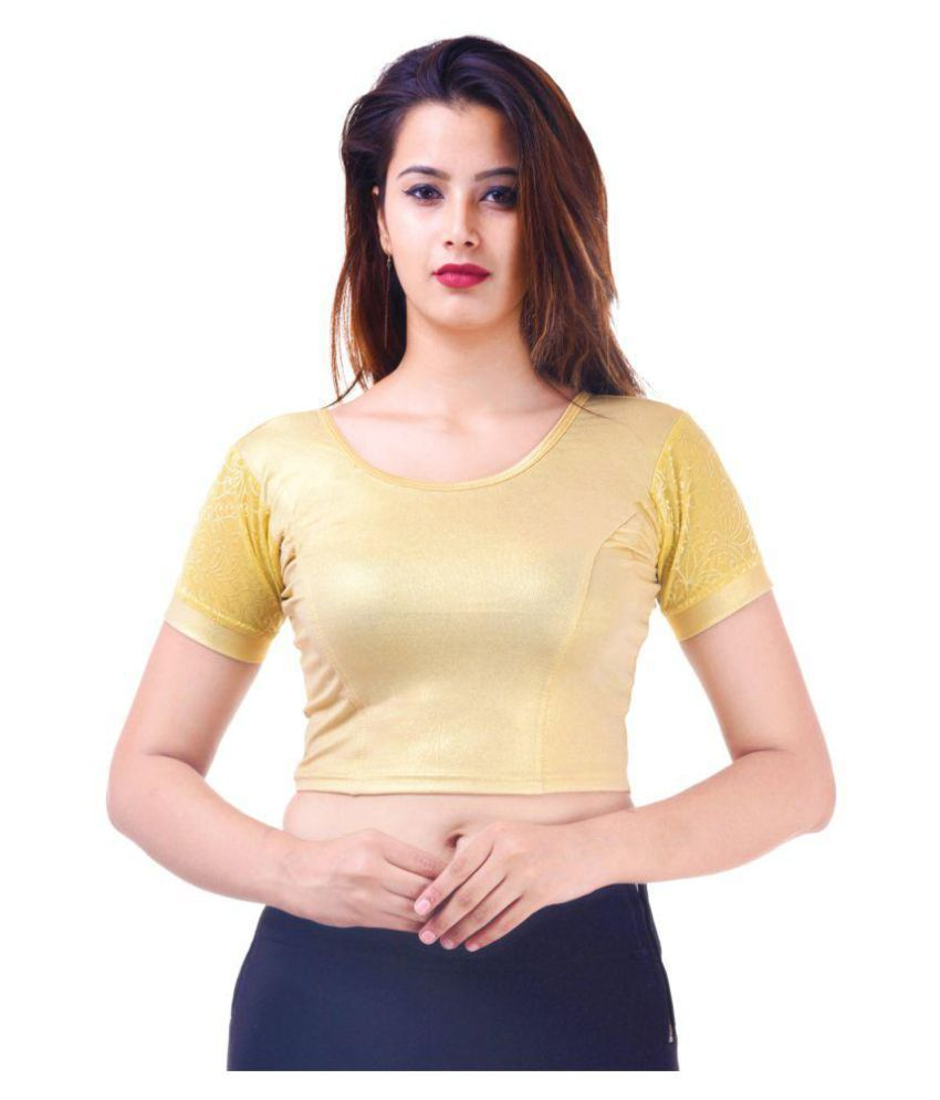 ADABHUT Gold Shimmer Readymade without Pad Blouse