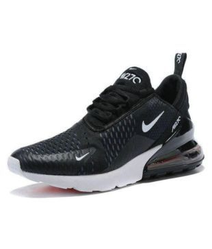 hot sale online ac882 9a361 Nike 1 air max 27C Running Shoes Black For Gym Wear