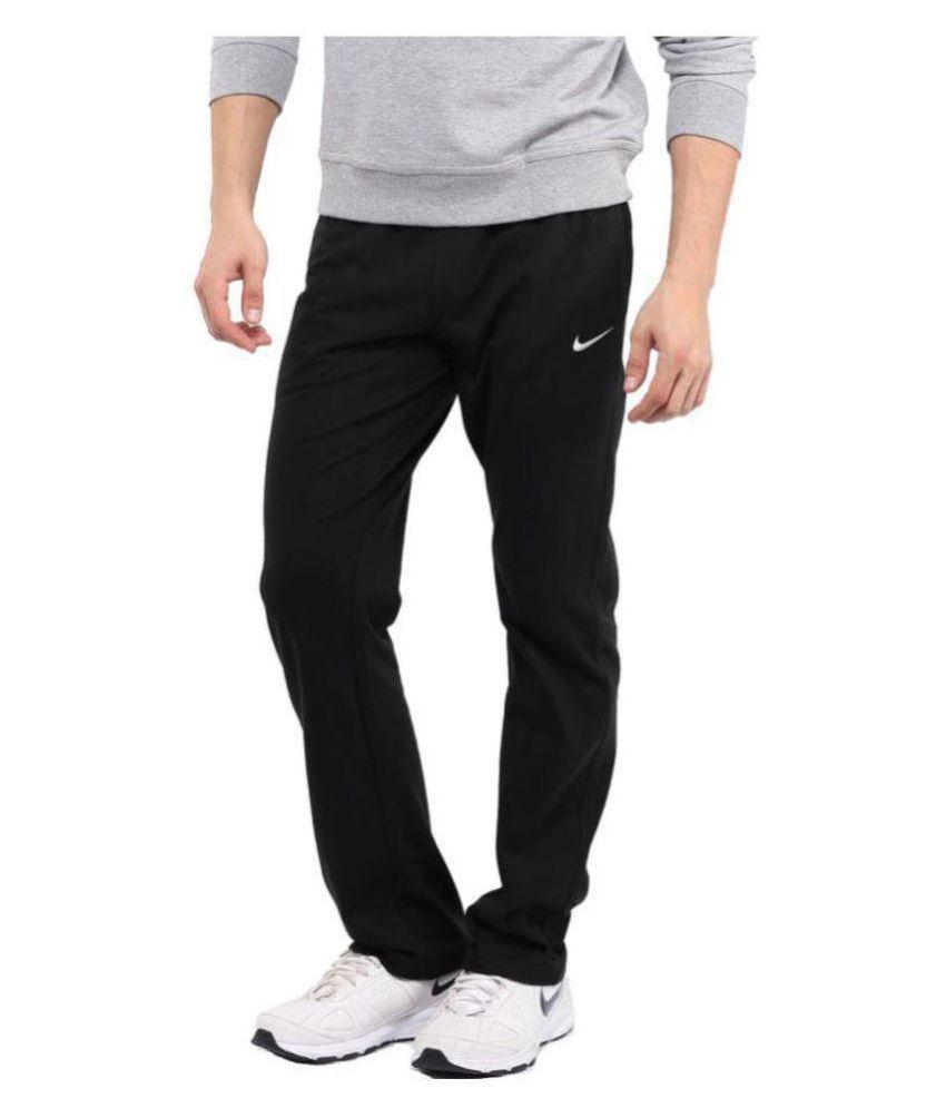 Nike Black Polyester Lycra Men/Boy's Running trackPant