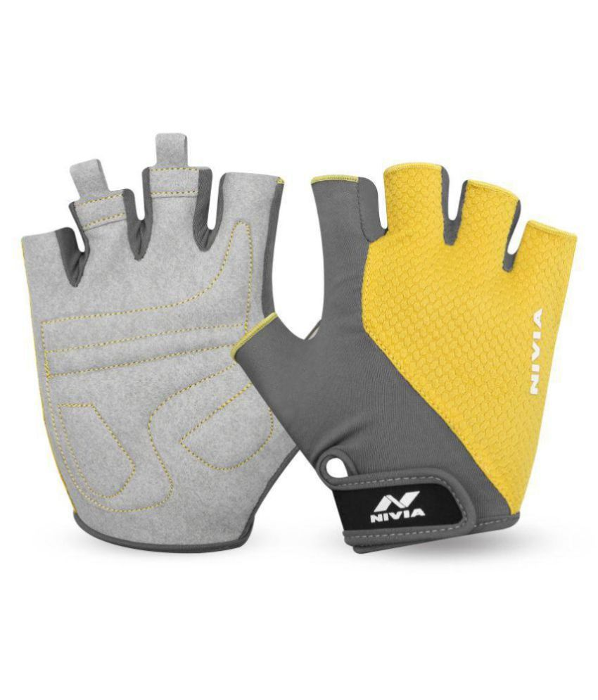 Nivia Yellow Gym Gloves gym equipment
