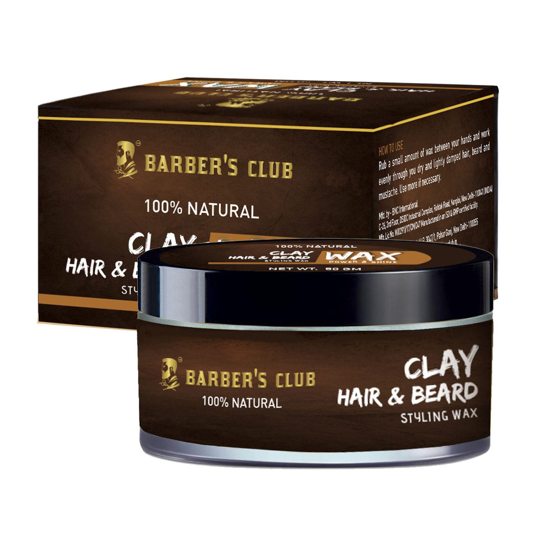 Barber's Club Clay Hair & Beard Styling Wax -50gm