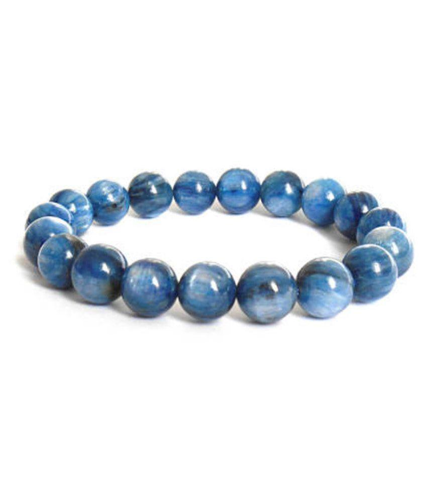 8mm , Blue Kyanite Bracelet, Blue Stone Bracelet