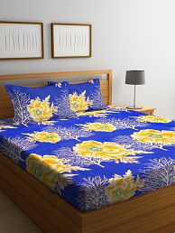 Bombay Dyeing Microfibre Double Bedsheet with 2 Pillow Covers