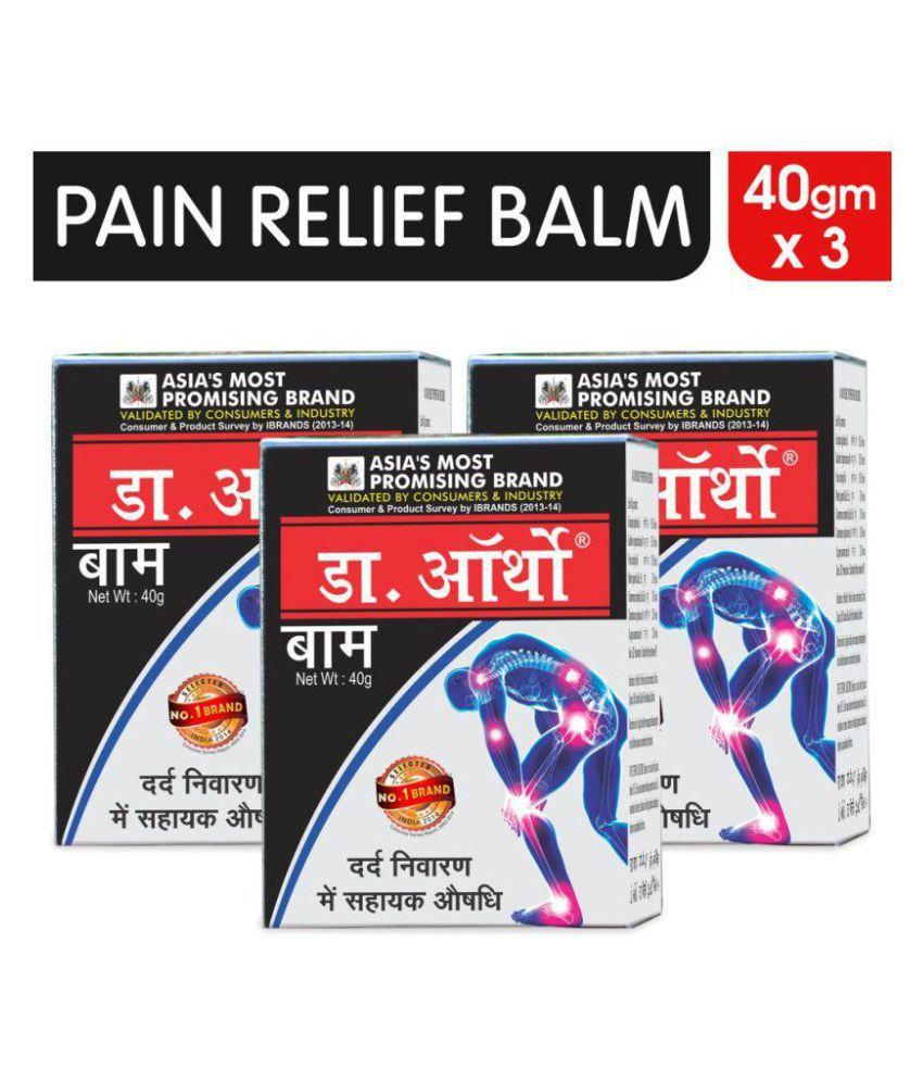 Dr. Ortho Balm 40gm - 100% Ayurvedic Balm Pack of 3