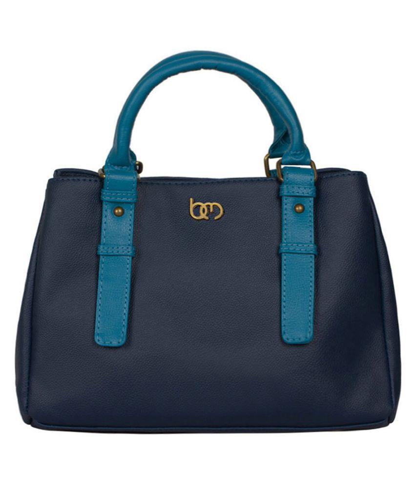 Bagsy Malone Blue Faux Leather Shoulder Bag