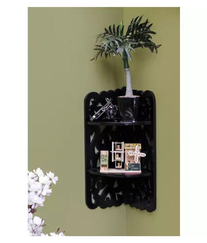 Onlineshoppee MDF Dos Niveles Wall Decor Rack Shelf