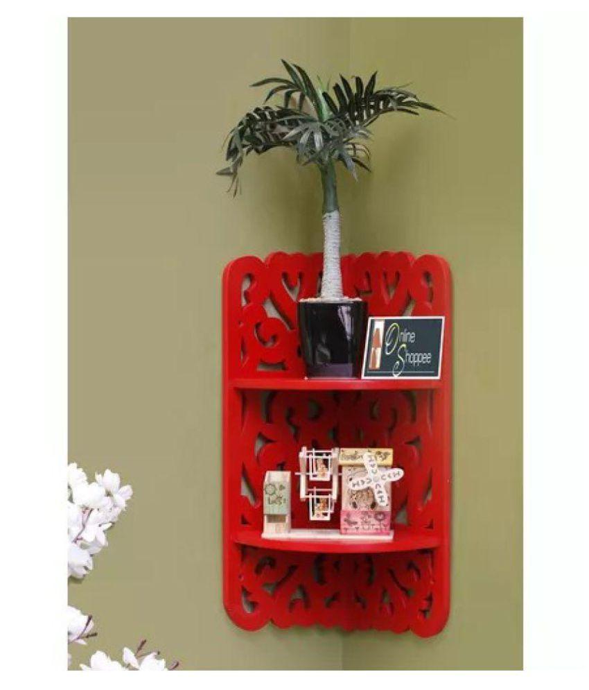 Onlineshoppee MDF Dos Niveles Wall Decor Rack Shelf