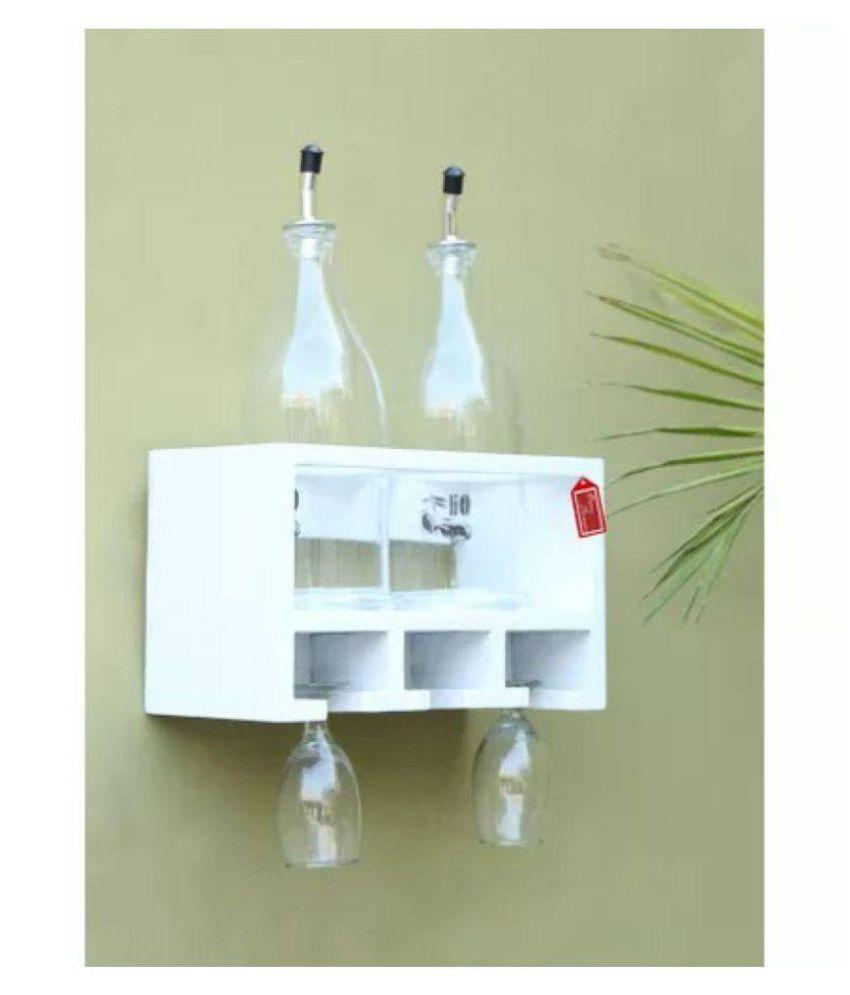 Onlineshoppee Unique Wooden Bottle Rack ( 2 Bottles Holder)