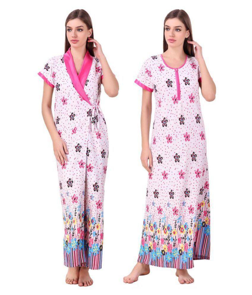 keoti Satin Nighty & Night Gowns - Multi Color