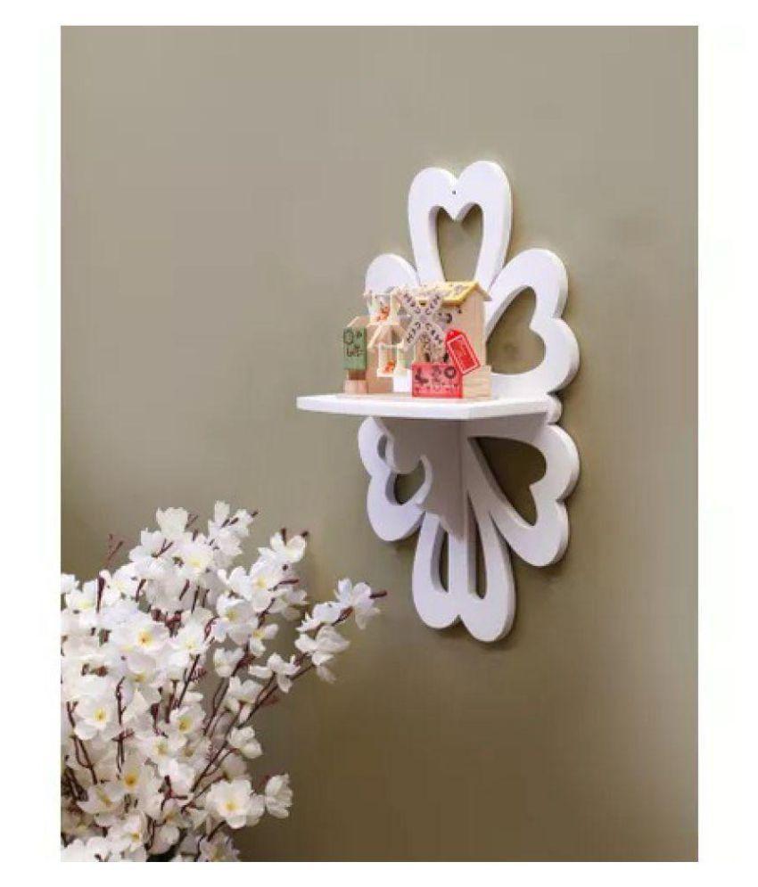 Onlineshoppee Beautiful MDF Decorative Wall Shelf - White