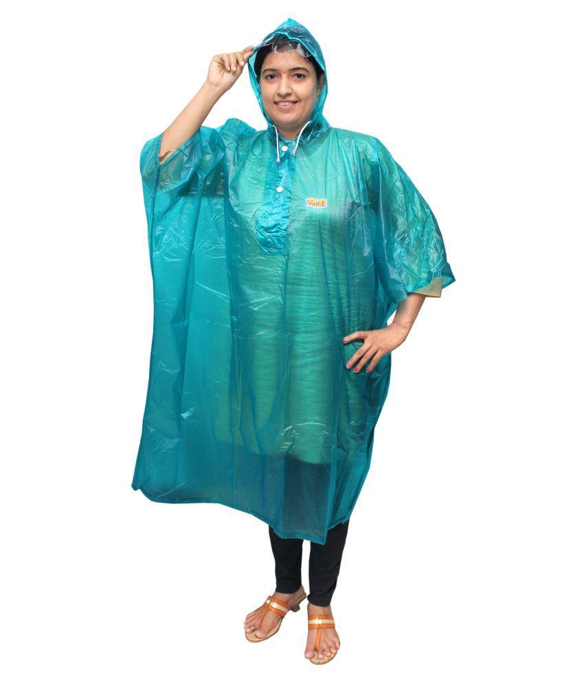Goodluck PVC Long Raincoat - Green