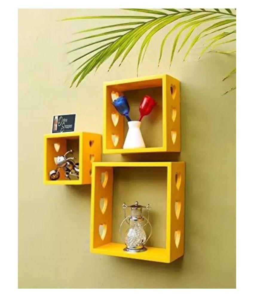 Onlineshoppee Fancy Wall Decor MDF Wall Shelf