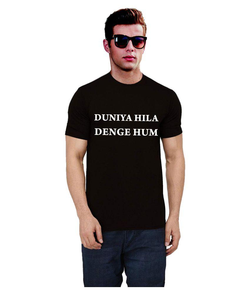 Ritzees Black Half Sleeve T-Shirt Pack of 1