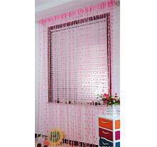New panipat textile zone Single Door Heart String Curtain (7ft x 4ft)