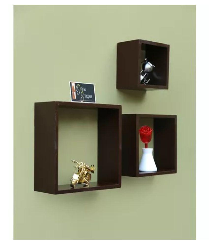 Onlineshoppee Fancy handicraft design Wall Decor MDF Wall Shelf - Brown